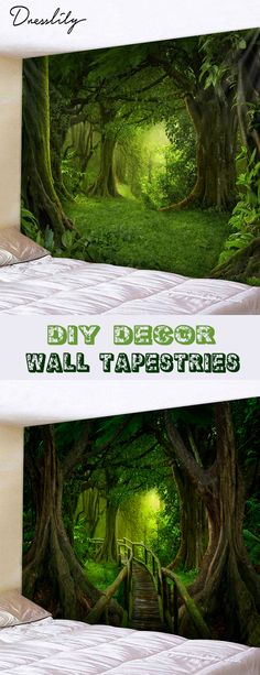 Forest Pattern Wall Tapestry Decoration. #dresslily #diy #decor #forest #tapestry