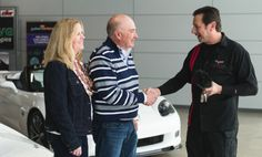2013 Corvette Dream Giveaway winner, Jim DeGreve gets the keys to both Corvettes he won from Mark Breiner. Mr. DeGreve donated $20 as he entered the Corvette Dream Giveaway to help several charities and ended up winning both #Chevy #Corvettes. Talk about a great dream!