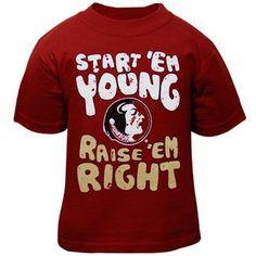Florida State Seminoles (FSU) Infant Start 'Em Young T-Shirt - Garnet