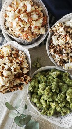 Four Flavors of Popcorn is part of Fun Flavored Popcorn Recipes The Fresh Times - Whether you like your popcorn sweet, salty or a lil' of both, you'll be impressed by these 4 unique flavors Popcorn Snacks, Flavored Popcorn, Popcorn Recipes, No Cook Meals, Kids Meals, Salty Foods, Cooking Recipes, Healthy Recipes, Sweet And Salty