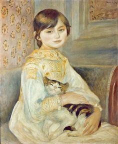 'Julie Manet with Cat' by Pierre-Auguste Renoir