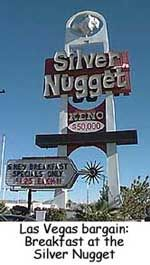 Mahoney's Silver Nugget Casino  Las Vegas, Nevada ...  This is a place where the cafe special is easy to find, readily available, served with a smile, and good. Mahoney's Silver Nugget Casino offers six different breakfast selections for US$1.25 each. The specials are available from 11:00 p.m. to 11:00 a.m. in the Garden Cafe near the bowling alley.