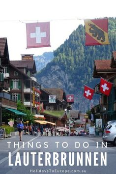 Things to do in Lauterbrunnen / One of the most charming alpine villages in Switzerland, Lauterbrunnen offers heaps of things to do for the active and not-so-active traveler. Visits to the Jungfraujoch, the Schilthorn and Interlaken are just a few activities that you can do. This post also covers: Where to stay in Lauterbrunnen, and How to get to Lauterbrunnen. Wengen Switzerland, Switzerland Summer, Best Of Switzerland, Switzerland Itinerary, Switzerland Vacation, Switzerland Christmas, Cool Places To Visit, Places To Travel, Places To Go