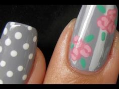 Cute Vintage nail art I wanted I had on my computer for a long time! finally got to upload it       Check out my blog http://www.qtplace.com for more information and great swatches    If you have any questions you can always send me a comment  Please help by subscribing to my channel    music by:  http://music4yourvids.co.uk/royalty-free-music.h...