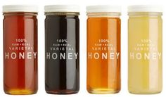 all kinds of honey