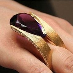 "107 Likes, 4 Comments - de Joya en Joya (@dejoyaenjoya) on Instagram: ""Thierry Vendome: Surf  ring is composed of two rows of amethyst and diamond mounted in yellow…"""