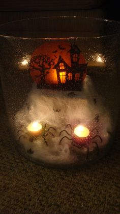 Majestic Hurricane with Spooky House and Itzy & Bitzy ~ How are you decorating for Halloween? www.partylite.biz/tishafromal