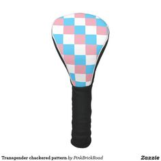 Transgender chackered pattern golf head cover