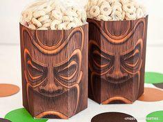 TIKI Treat Box - DIY Printable PDF via Piggy Bank Parties Serve up your favorite Hawaiian treats at your next event!