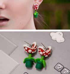 Super Mario Piranha Plant #Earrings!