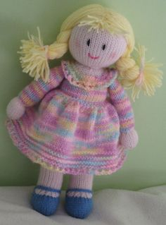 Sale Hand knitted doll Free UK Postage by DreamDollies on Etsy ♡