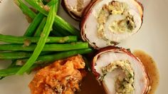 Turkey Rolls with Bacon, Apple and Cheddar Recipe | Rachael Ray Show