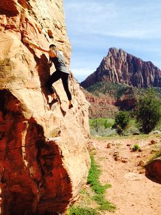 Wildness. The word itself is music. Climbing. Zion National Park