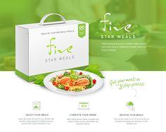 FiveStar Meals: Website and UX Design on Behance