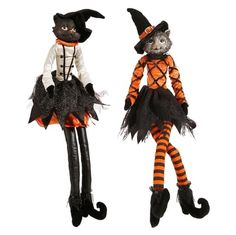 """RAZ 30"""" Cat Halloween Decoration Assorted styles, priced individually Orange, White, Black, and Grey Made of Polyester and Resin Measures 30"""" X 6"""" X 5.5"""" Choose Style:"""