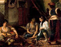Mujeres de Argel. Delacroix. Romanticismo. S. XIX.