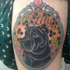 shar pei tattoo melanie milne