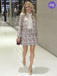 Look do dia: Fiorella Mattheis usa conjuntinho estampado