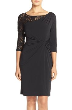 Ellen Tracy Sequin Lace & Jersey Sheath Dress available at #Nordstrom