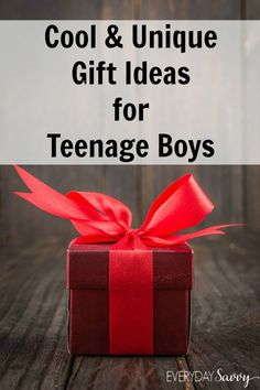 You will love these cool and unique gift ideas for teenage boys. We have found great ideas at every price point to help you with your gift-giving needs.  via @everydaysavvy