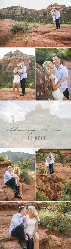 Sedona engagement photos at Bell Rock. With 360 degree views easily accessible with a short 10 minute walk from an easy to get to parking lot, Bell Rock is naturally a popular location for Sedona portrait sessions and engagement sessions in Sedona. Drop by our website www.sedonabride.com for more images from this session as well as tips for planning your Sedona wedding. #sedona #sedonaenagementphotos #sedonaengagementphotography    #sedonawedding #sedonaweddings #sedonaarizona