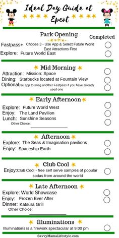 EPCOT PARK ITINERARY: Print this FREE guide to Disney's Epcot to help plan your perfect park day! Navigate the layout, festivals, and diverse attractions of the park, with this Epcot Itinerary! Plus, print a FREE Epcot planning guide for your day. Disney World Vacation Planning, Walt Disney World Vacations, Disney Planning, Disney Parks, Disney Travel, Family Vacations, Disney Bound, Cruise Vacation, Disney Cruise