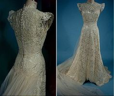 1940s wedding dress. I want this do bad. It's seriously the most beautiful gown I've seen.