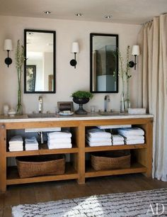 You Can Never go Wrong With Double Rectangular Mirrors in a His and Her Bath! See if Any of Our Mirrors Could Work For Your Look at Luxurybathforless.com!