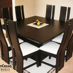 Latest Dining Table Designs, Wooden Dining Table Designs, Dining Room Furniture Design, Dinning Table Design, Wooden Dining Chairs, Dining Room Table Decor, Dining Table In Kitchen, Dining Room Sets, Home Decor Furniture
