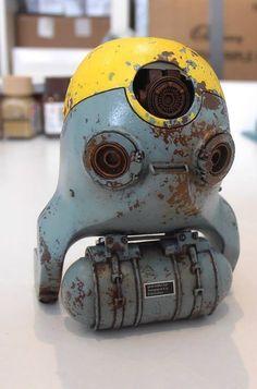 rust on casing of a heavily shielded camera. Arte Robot, Sci Fi Models, 3d Figures, Robot Design, Mechanical Design, Vinyl Toys, Designer Toys, Sci Fi Art, Dieselpunk
