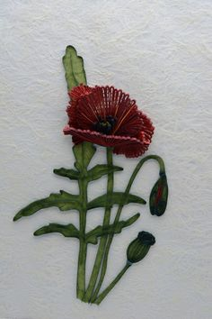 Quilling Red poppy