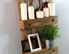 Estante del gancho de madera reciclada con ganchos estante