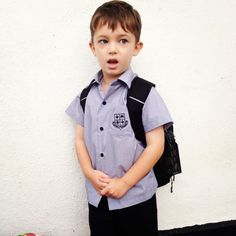 Now he is a schoolboy. Gosh, time flies so fast:(