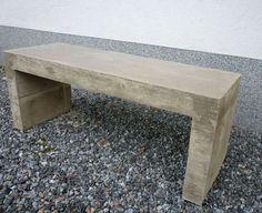 DIY-bench made by concrete. Diy Bench, Outdoor Furniture, Outdoor Decor, Concrete, Backyard, Garden, Plants, Home Decor, Patio