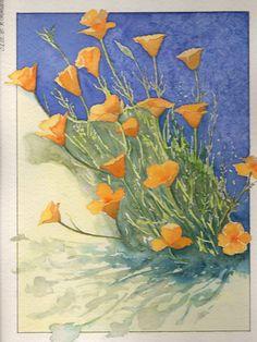 acquerello - esplosione di fiori