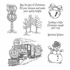 Stampin' Up!, christmas magic stamp set clear 142119