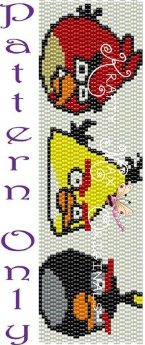 Angry Birds - Red, Yellow and Black-PATTERN ONLY-a Krafty Max Original