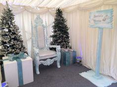 White Winter Throne | Winter Wonderland Theme Party | Winter Wonderland Theme | Event Prop Hire