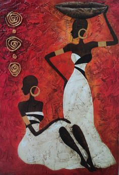 Ideas For Painting Woman Abstract American Art African Drawings, African Art Paintings, African Artwork, African American Artwork, Image Deco, African Quilts, Afrique Art, Black Artwork, Afro Art