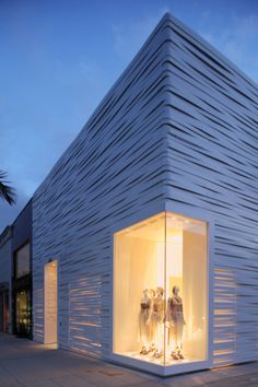Articles - ARCHITECTURAL PROJECTS - CATEGORIES - OFFICE - Woven metal facade for Missoni store in Los Angeles