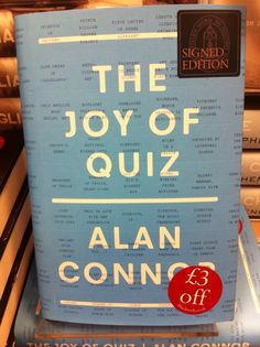 just nipped in & signed his excellent book The Joy of Quiz. Alphabet Signs, Last Minute Gifts, Joy, Lettering, Books, Libros, Glee, Book, Drawing Letters