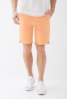 Cuffed Chino Shorts | 21 MEN | #f21men