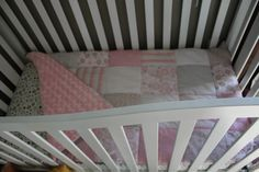 Fat Quarter: Crib Quilt or Toddler Bed Blanket.
