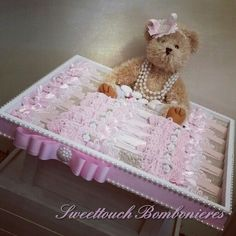 Tray Decoration For Baby Girl Captivating Little Garden For The Brand New Baby Girl Perfect Chocolate Inspiration