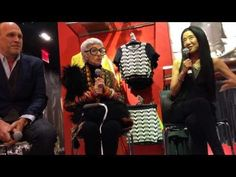 Iris Apfel, Vera Wang and Dirk Standen at the Fashion Book Launch, Topshop NYC
