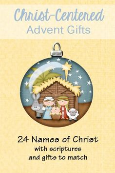 LDS site Names of Christ Advent Gifts - 24 scriptures to read each day in December. Each one talks about a different name of Christ. There are coordinating gifts to go with the scriptures to use for advent! Christmas Nativity, Christmas Countdown, Christmas Holidays, Christmas Crafts, Christmas Tables, Nordic Christmas, Modern Christmas, Christmas Ideas, Christmas Service