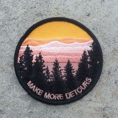 This patch that will makes you want to take a detour. | 21 Embroidered Patches That Will Bring New Life To Old Shit