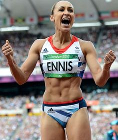 Jessica Ennis: heroine of the sports & beauty world. Pure muscle. What's fat about that?