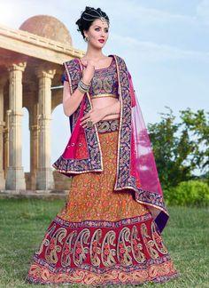 Victorious Art Silk Colour Orange Embroidery Lehenga Choli  https://www.gnoutlet.com/collections/lehenga-cholis/products/victorious-art-silk-colour-orange-embroidery-lehenga-choli