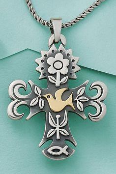James Avery Sterling Silver La Primavera Cross Pendant ...